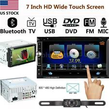 """Bluetooth 7"""" Double 2Din In-Dash Car Stereo DVD MP4 Player Radio Rear Camera"""
