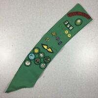 Vintage 1970s Girl Scout Sash w/ Badges Patches Pins Minneapolis Minnesota GSA