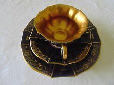 Kaffeegedeck Lindner kobalt mit Goldränder Golddekor