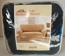 "Madison Sofa Slipcover, Black Chekerboard, for 74""-96"" wide sofas"