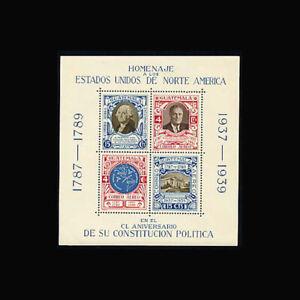 Guatemala, Sc #C92, MNH, 1938, S/S, Washington, Roosevelt, Constitution, TDD-C