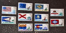 2008USA #4273-4282 42c Flags Our Nation Series 1  Set of 10 Singles  Mint NH