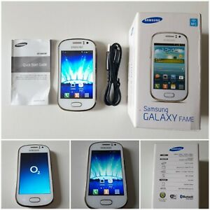 SAMSUNG FAME - 4GB - White Mobile Phone - Pearl White.O2. BOXED