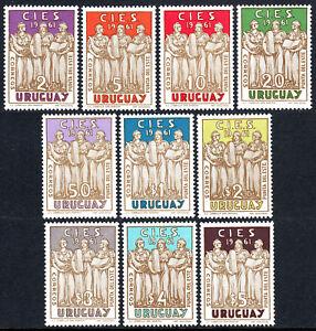 Uruguay 676-685, MNH Allegory De Bien Être , Justice Et Éducation, 1961