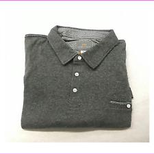 Thomas Dean Men's Polo Shirt L Gray 100 Cotton