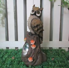 Gardenwize Solare Led Gufo uccellino Guard Statua Da Giardino Decorazione Ornamento