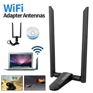 1200Mbps Dual Band 5GHz Wireless USB3.0 Wifi Adapter Antenna for Desktop Laptop