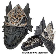 Mancave Detailed Armored Dragon Trinket Stash Treasure Box for Castle New
