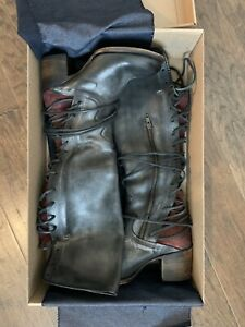 Freebird Coal 8 Black Red Lace Up Boots