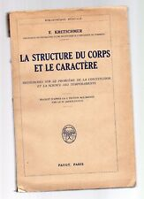 la structure du corps et le caractere - e.kretshmer - 1930