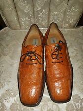 Mezlan Crocodile Mens luxry dress shoe Size 9 Extra Sharp!