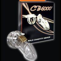 Cage de chasteté homme cb6000 clear polycarbonate chastity belt male transparent