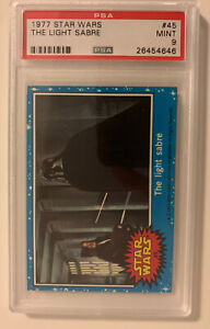 1977 Star Wars #45 The Light Sabre RC PSA 9 Mint! Only 9 Higher