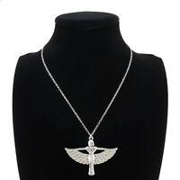 "Egyptian Goddess Isis Ancient Egypt God Winged 18"" Collar Short Choker Necklace"