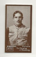 1894 N302 Mayo Cut Plug Football Reprint - Robert Emmons - Harvard Crimson