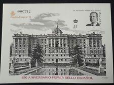 150 aniversario primer sello español PRUEBA DE LUJO 16