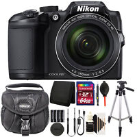 Nikon COOLPIX B500 16MP 40x Built-in Wi-Fi Digital Camera Black + 64GB Kit