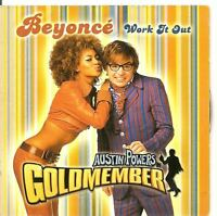 BEYONCE Work It Out 2 TRACK CARDslv CD SINGLE AUSTIN POWERS