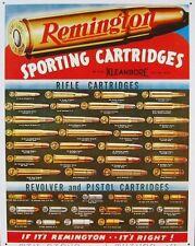 Vintage Replica Tin Metal Sign Remington Sporting Cartridges ammo gun shot 1001