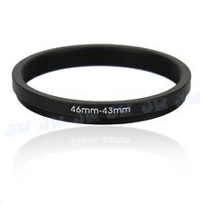 46-43mm Metal Step Down Adapter Ring /46mm Lens to 43 mm UV CPL Filter Accessory