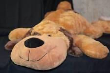"Dan Dee Puppy Dog Toy black Brown Sitting Soft Bean Bag Plush Stuffed Animal 30"""