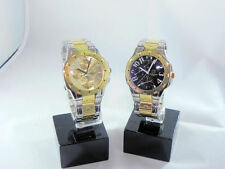 WATCH STEEL IN COLOUR GOLD AND CHROME-PLATED WITH SPHERE GOLDEN OR BLACK
