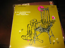 E E cummings Reads His Poetry on LP Sealed !!! Caedmon TC 1017
