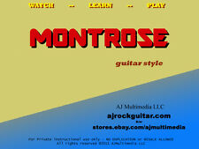 Custom Guitar Lessons, learn Montrose guitar style