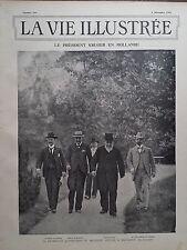 LA VIE ILLUSTREE 1901 N 164 LE PRESIDENT KRUGER EN HOLLANDE, A HILVERSUM