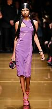 VERSACE H&M HM violet Buttons Oro Crochet Lace Dress UK 8/EUR 34/US 4 BNWT