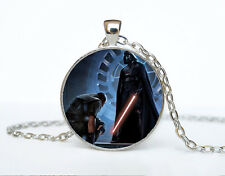 Star Wars Photo Cabochon Glass Tibet Silver Chain Pendant Necklace AAA50