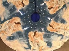 Christmas Star Angel Tree Skirt  Dona Gelsinger  Fiber Optic Lights.Tapestry