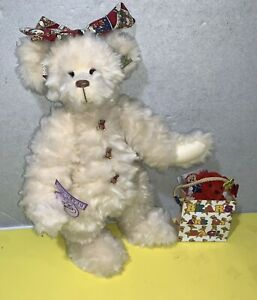 """14"""" Annette Funicello """"Bears Are My Bag"""" Teddy Jointed Plush w/ Tag & Bag"""