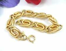 """Sarah Coventry TAILORED LADY Bracelet Vintage Chain Paperclip Links Goldtone 7"""""""