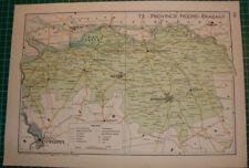 Old map provincie Noord Brabant 1939 kaart landkaart