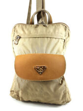 Maison Mollerus Beige Nylon Backpack Damenhandtasche