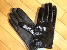 Worthington Ladies Leather Gloves size XL Brown Solid Lined for warmth