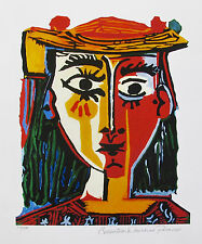 Pablo Picasso BUST OF A WOMAN Estate Signed Limited Edition Art Giclee Medium
