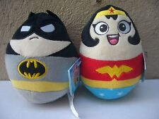 DC Super Heroes Plush Egg Shaped Batman Wonder Woman New With Tags