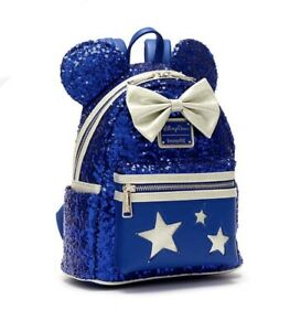 Loungefly Minnie Mouse Wishes Blue Mini Backpack