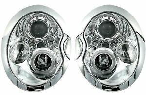 OFFER Headlights per BMW per Mini COOPER R50 R52 R53 01-06 Angel Eyes Chrome IT