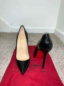 Christian Louboutin Pigalle 120 black patent Shoes heels Kate sz UK6US8EU39