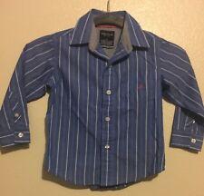 Nautica Toddler Boys Shirt Clothing - Size 3T blue/white Free Shipping