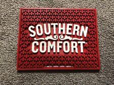 (L@@K) Southern Comfort Giant Red Rubber Bar Mat Cocktails Game Room Man Cave