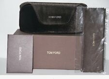 NEW Tom Ford Dark Brown Velvet Large Sunglasses Case W/ Box  & Cleaning Cloth