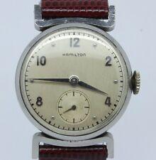 """VINTAGE 1950's Hamilton """"Clinton"""" Mens Steel Watch Manual Wind ca.747 Original"""