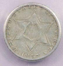 1857-P 1857 Three Cent Silver 3c ICG EF40