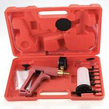 Hand Held Vacuum and Pressure Pump Tester Kit + Brake Fluid Bleeder + Adapters