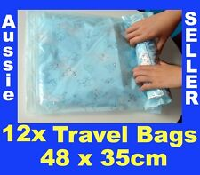 12 Travel Space Saver Saving Hand Roll Up Roller Seal Bags Storage 48 x 35cm