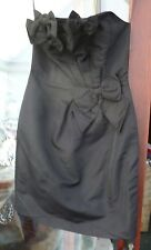 NEW LADIES BELLE BY OASIS STRAPLESS BODYCON PROM DRESS BLACK SIZE 8 RRP £60